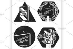 Vintage advertising agency emblems by Netkoff on @creativemarket