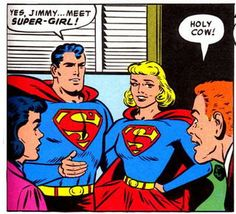 The first Supergirl arrives at Metropolis via a totem, and wished by Jimmy Olsen for his pal, Superman in Superman 123 August 1958.
