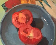 Original oil paintings by Sarah Sedwick by SedwickStudio on Etsy Painting Snow, Fruit Painting, Mural Painting, Acrylic Painting Canvas, Watermelon Painting, Vegetable Carving, Still Life Oil Painting, Paintings I Love, Oil Paintings