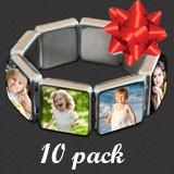 Makes 10 Instant Glass Stretch Square Photo Bracelet Kit Photo Charm Bracelet, Glass Photo, Square Photos, Photo Charms, Making 10, Photo Jewelry, Jewelry Making Supplies, Link Bracelets, Charmed