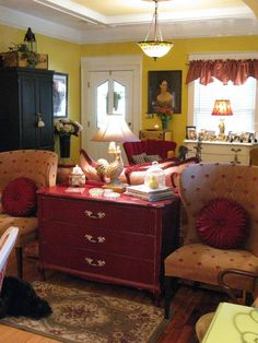 Love this room, especially the red chest (1) From: Dear Daisy Cottage, please visit