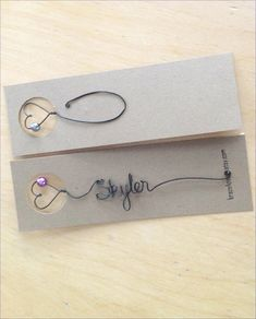 Personalized Bookmark Arrow Shaped Personalized by kraze4paper