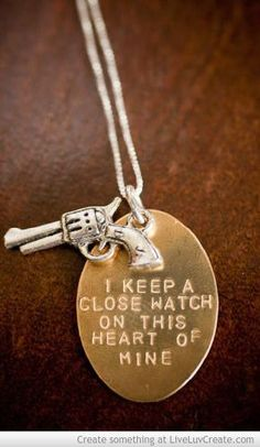 i keep a close watch on this heart of mine // love it!