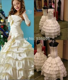 Cheap gown set, Buy Quality gown store directly from China gown Suppliers:  Welcome to my store         2013 Style A-line Sweetheart Sleeveless Chapel Train Tulle with Appliques Fashion Wed