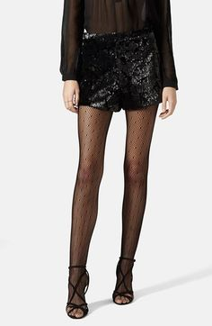 Topshop+Velvet+Sequin+Shorts+available+at+#Nordstrom