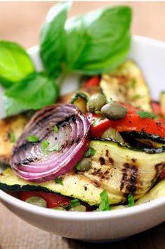 Grilled veggie salad. Spillin' on What's Grillin' | Sensa Blog