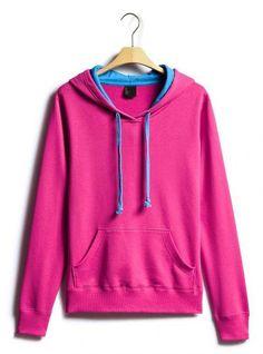 Deep Rose Red Collision Energy Turtleneck Sweatshirt$51.00