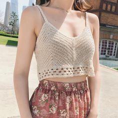 FREE SHIPPING Women's Handmade Sexy Bikini Crochet Knitted Crop Top JKP3264