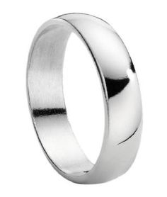 Titanium Wedding Ring with Polished Domed Profile
