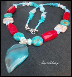 "Set ""Vara azurie"" (50 LEI la beautiful.day.breslo.ro) Beaded Bracelets, Places, Beautiful, Jewelry, Jewlery, Jewerly, Pearl Bracelets, Schmuck, Jewels"