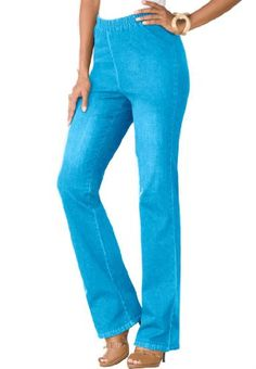 Womens stretch denim bootcut leggings