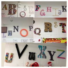 3D Classroom Alphabet A- apples B-buttons C-cotton balls D-diamonds E-Easter eggs F-feathers G-glitter H-hearts I-inches J-jewels K-keys L-lace and lilac M-metal N-nails O-orange P-pins (straight and safety) Q-quilt R-rocks S-sand T-tissue paper U-umbrella V-velvet W-wood X-X-rays Y-yarn Z-zippers