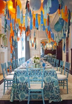 Wedding decor idea for the alternative bride: Steal some inspiration from Jihan Zencirli's balloon art, and hang balloons with tassels in your wedding colors all around the venue. You'll save money on flowers and create wedding decor that truly stands out.
