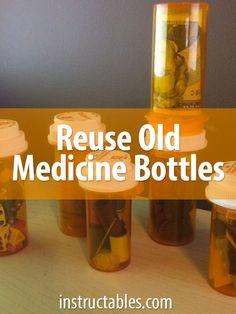 7 ways to reuse an old prescription pill bottle. Get organized!