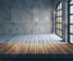 Habitación difuminada con ventanas Foto Gratis