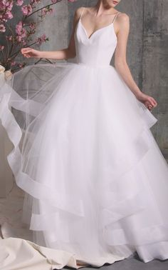 Layered Tulle Gown by Christian Siriano