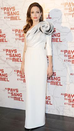 Angelina Jolie's Best Red Carpet Looks Ever - In Ralph & Russo, 2012 from #InStyle