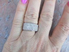 Estate Vintage 14 KT White Gold & Pave Diamond by NiceVixenGems