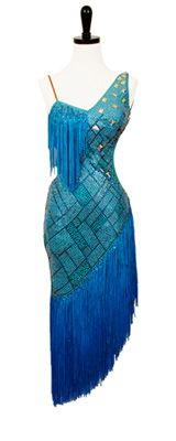 Latin Dress - Not a fan of the dress itself, but the color combination and almost iridescent fabric are nice.