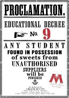 Harry Potter Educational Decrees {free printables} - Paper Trail Design