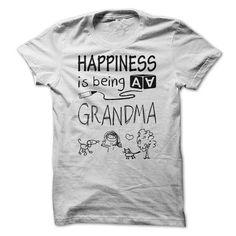 Happiness is being a GRANDMA - #kids tee #vintage sweatshirt. BUY IT => https://www.sunfrog.com/LifeStyle/Happiness-is-being-a-GRANDMA.html?68278