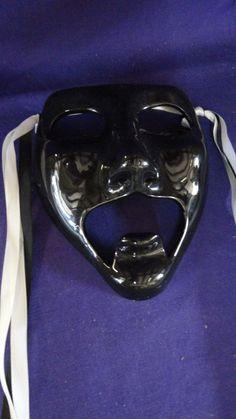Vintage Black Ceramic Mask by tennesseehills on Etsy, $22.00
