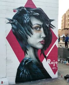 Street Art by Rojo. #StreetArt #Graffiti #Mural