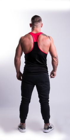 Tremor Classic Stringer Black/Red - EconomicShopping Color Combinations, Sporty, Tank Tops, Classic, Model, Red, How To Wear, Shopping, Black
