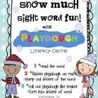 Your kiddos will have Snow Much Fun practicing sight words with this ready-to-go center! Students choose a sight word mat, roll out the playdough and spell the sight word, Super fun and it's a free download.