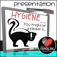 Hygiene reminders are a necessary part of the education process. Students need reminders of these useful hygiene tips to stay fresh and clean. This presentation can be used as a small group lesson or as a whole group presentation. You might also like: Hygiene Board Game Elementary School Counseling, School Counselor, Hygiene Lessons, Life Skills Class, Future School, Teaching Social Skills, Personal Hygiene, Activity Days, Health Education