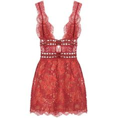 DASH For Love Lemons Mon Cheri Mini Dress (4 025 ZAR) ❤ liked on Polyvore featuring dresses, short red dress, lace mini dress, red lace dress, short dresses and open back lace dress