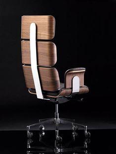 Wood Furniture Legs, Space Furniture, Luxury Furniture, Furniture Design, Armadillo, Modern Desk Chair, Italia Design, Executive Chair, Dream House Plans
