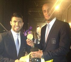 Vincent and Sergio looking very dapper at Sports Personality of the Year awards via @VincentKompany