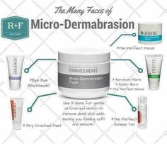 Our Micro-Dermabrasion Paste is like the Little Black Dress of skincare. It works for almost everything and everyone! If you've tried a mini-facial....you know the LOVE!! Use it 2-3x (ok....maybe more!) a week and fall in love with how silky smooth your skin will look and feel! It will last up to five months! This is a GREAT START to healthy and beautiful skin if you aren't ready for a full regimen! E-mail me and I will help get you started: chastitymccord.rfconsultant@gmail.com