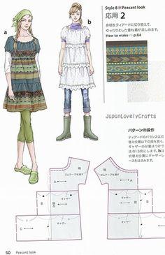 Dress Style Book by Keiko Nonaka Japanese by JapanLovelyCrafts.