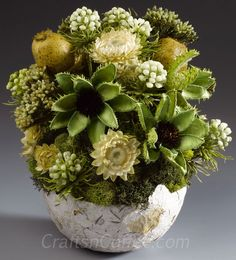Fall Topiary Centerpieces | Ten beautiful Fall arrangements, including this dried flower ...