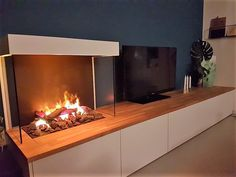Fireplace Hearth, Modern Fireplace, Room Interior, Interior Design, Tv Cabinets, Living Room Kitchen, Ikea Hack, Kitchen Organization, Home Projects