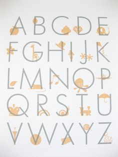 letterpress alphabet print
