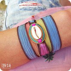 Isla Ibiza Rainbow Zijde Wikkel Armband ♡ available at www.ibizamusthaves.nl