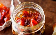 Recipe: Nectarine and peach jam with lemon verbena || Photo: Andrew Scrivani for The New York Times