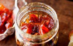 Recipe: Nectarine and peach jam with lemon verbena || Photo: Andrew Scrivani for The New York Times