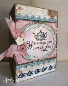 Beautiful Botanical Tea card using the collection stamps by Kathy Clement! #graphic45 #cards