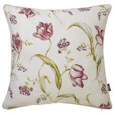 iLiv Botanica Trellis Feather Filled Cushion - Soft Red