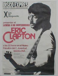 1977 Eric Clapton en Badalona.