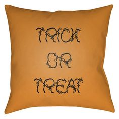 Surya Boo Trick or Treat Outdoor Pillow