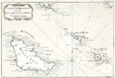 1 vue  - Carte de Belle-Isle et les isles D'Houat et d'Hedic / Bellin (géographe). (ouvre la visionneuse)