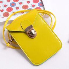 sac à main en cuir pU sac bandoulière nouvelles femmes fashion girls sac jaune y
