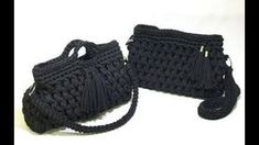 Bolsa em crochê com fio de malha