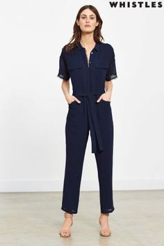 Whistles Cabriel Frayed Edge Jumpsuit