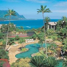 Hanalei Bay Resort in Kauai...this is where Mario and I got hitched!